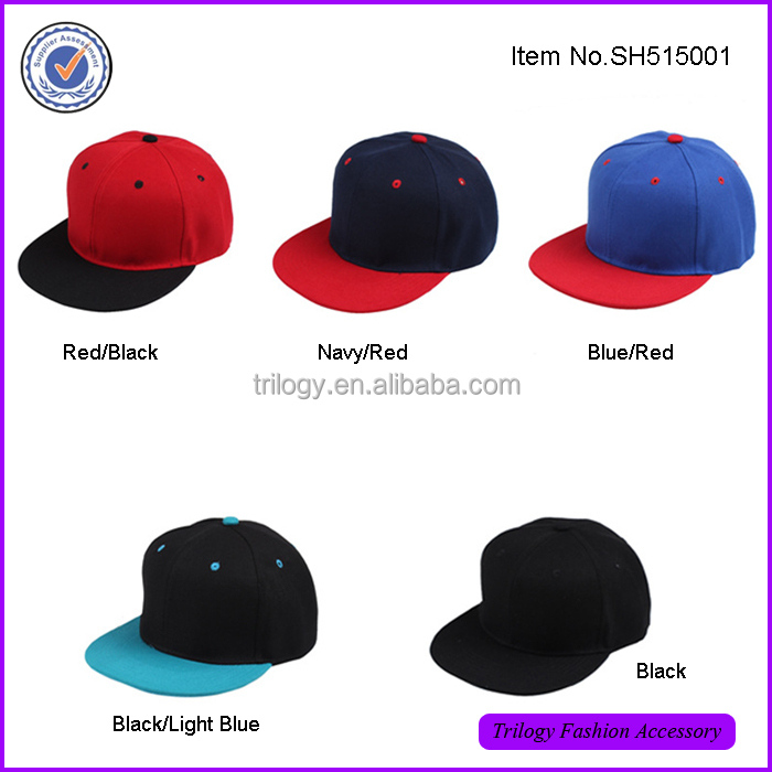 Wholesale Flexfit Classic Plain Snapback Snap Back Baseball Cap ,Blank Snapback Hats