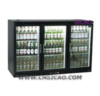 3 Doors Beverage Display Cooler, Beer Cooler 330Liters Sliding Door