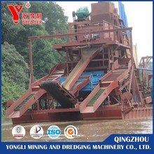 Bucket chain gold dredger for sale