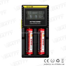 Charger LCD screen Nitecore D2 charger INR Lifepo4 NiMh NiCd AA AAA li-ion 26650 18650 18350 battery charger