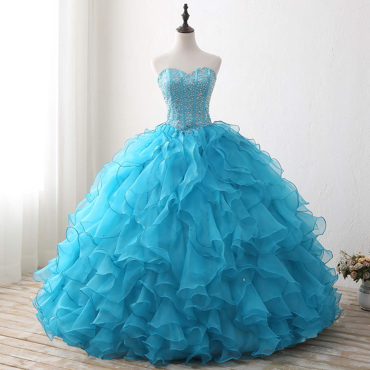 Wholesale blue prom ball gown - Online Buy Best blue prom ball gown ...