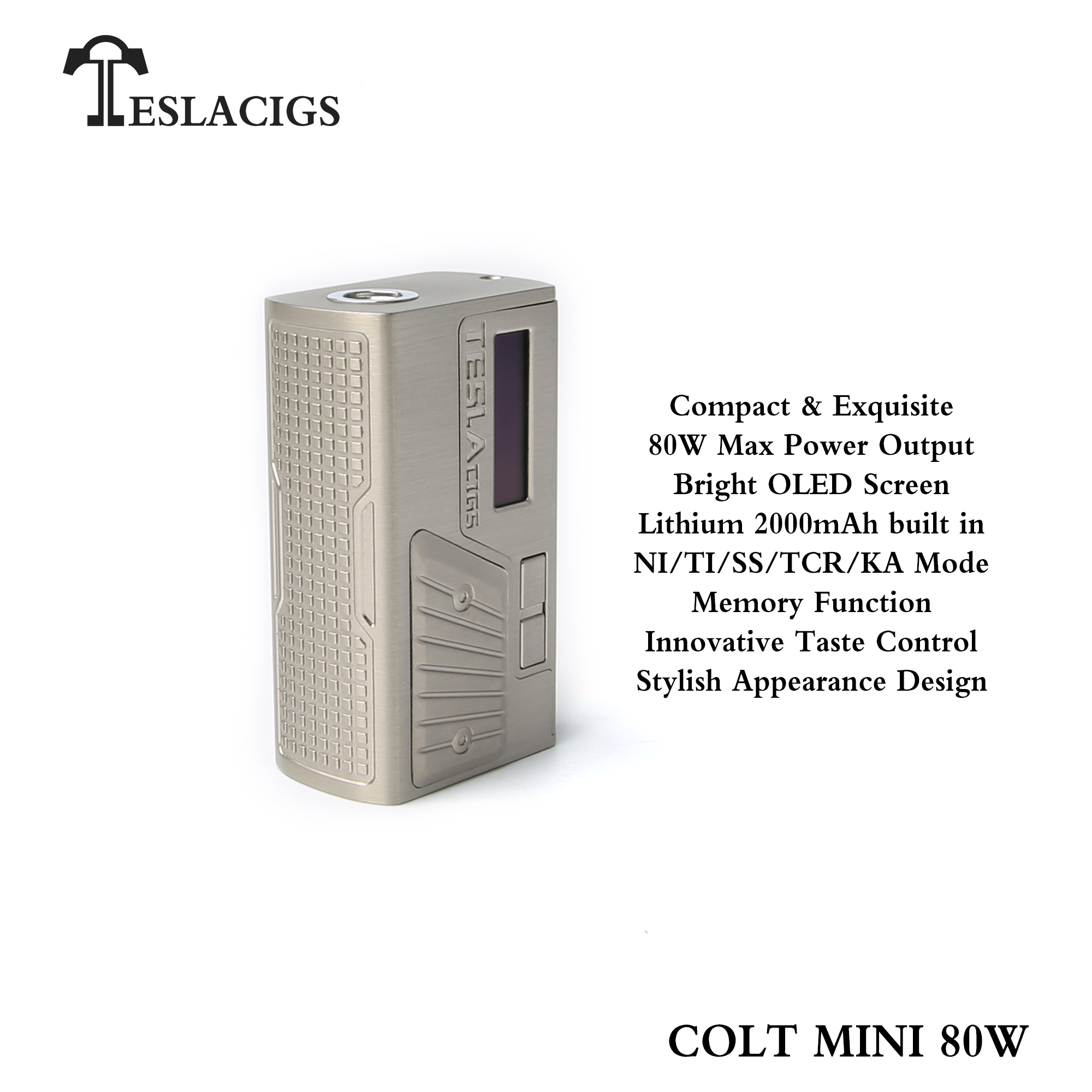 Teslacigs latest vape mod colt mini 80w with cheap price