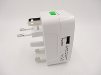 China Supplier Reliable World Travel Adapter USB Universal Travel adapter ac Power Adaptor Plug Adapter 1 Usb Charger