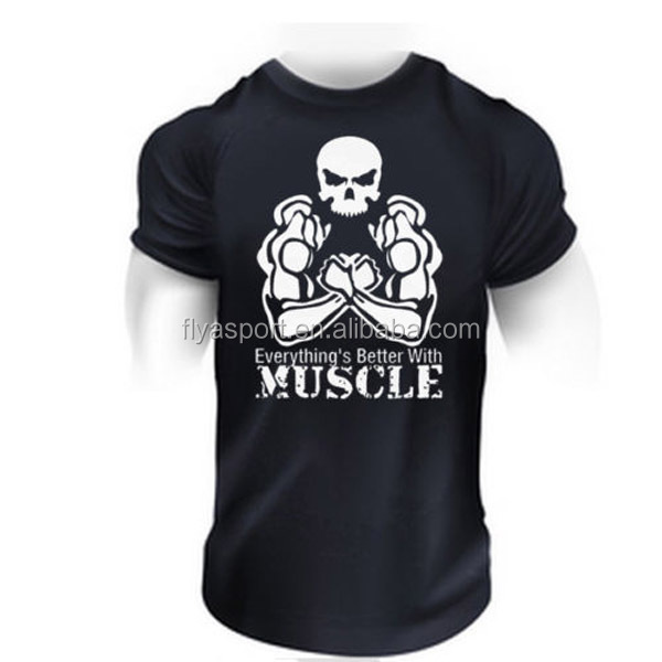 Oem service Custom 100% Cotton Short Sleeves mens Fitness golds gym t-shirt