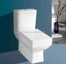 New design Bathroom Square two piece toilet washdown toilet