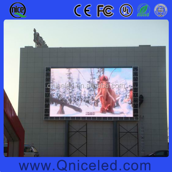 P5 P6 P8 P10 P12 P16 P20 Fixed wall mounted video advertising outdoor led display price