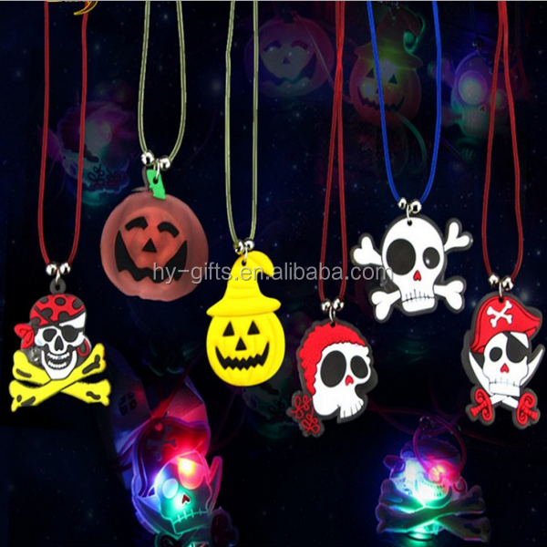 lighted decoration led necklace for party event halloween led necklace