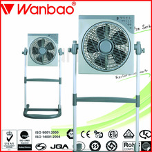 12 Inch Electric Box Fan Stand Lift Box Fan with remote control