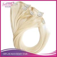 Top Quality brazilian virgin remy hair extensions 8 inch clip-in human hair extensions wholesale clip braided hair extensions