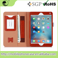 Factory Price Pc Tablet Cover For iPad mini 4 with cardslots and strap