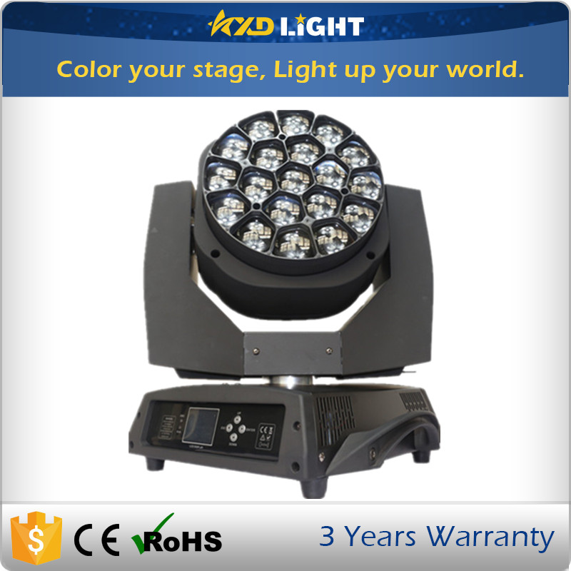 Professional High Quality Big Bee Eyes 19x15W 4 in 1 Zoom Beam Moving Head Light