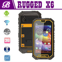 5 Inch Android 4.2 Smart GPS WIFI 3G Big Touch Screen Quad Band Runbo X6 Waterproof Dustproof Smart Phone Dual Sim Card