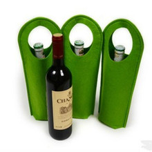 OEM Promotional felt wine bottle bag / felt tote bag
