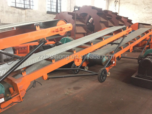 HUAHONG Automatic PVC Belt Conveyors With Adjustable Height