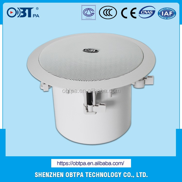 OBT-811 8inch 40w Round Ceiling PA Speaker, Stereo Speaker Subwoofer