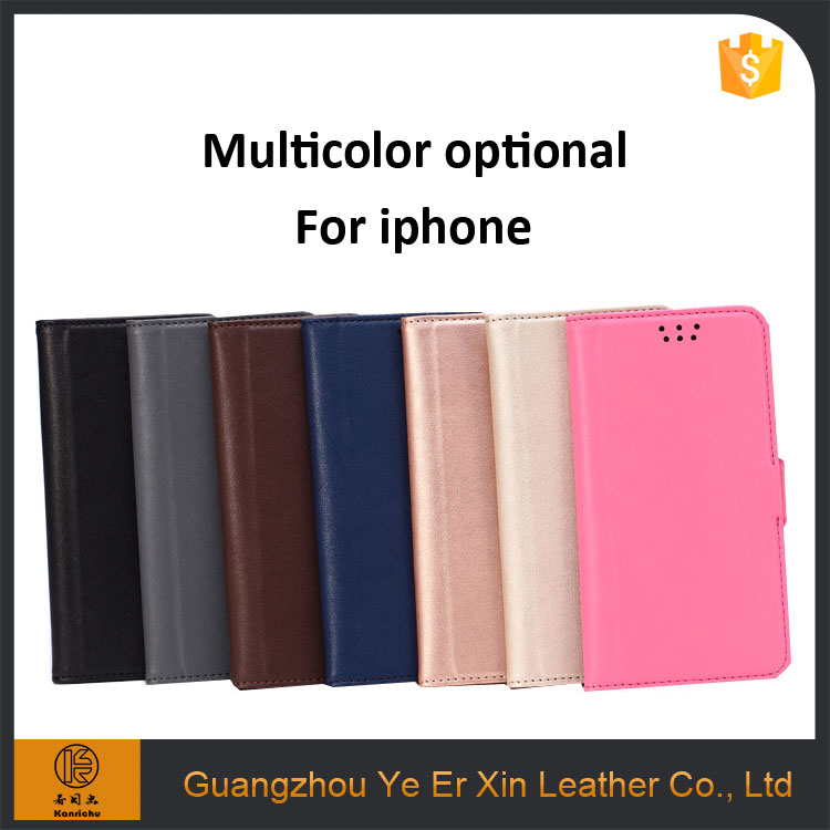 2017 trendy product free sample OEM luxury flip leather cell phone case for iphone 7/7plus