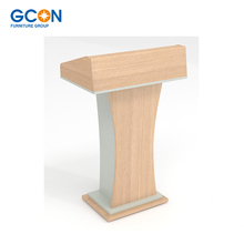 Red oak wood MDF church pulpit rostrum, school lectern