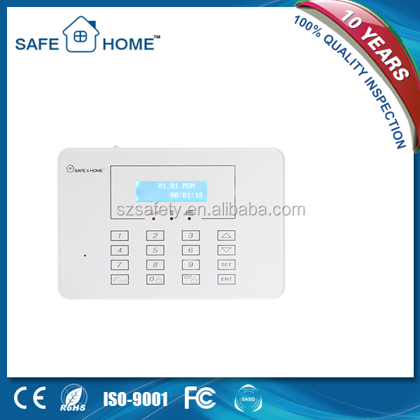 Touch screen smart wireless security gsm pstn dual network burglar alarm system