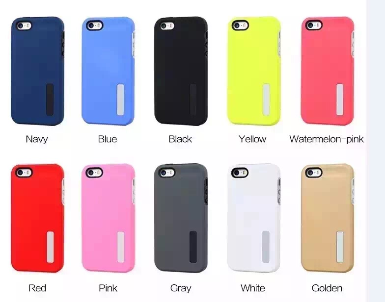 Hot selling colorful rubber feeling hard PC with TPU gel OEM personal logo 2in1 back cover phone case for iphone 6 6s plus