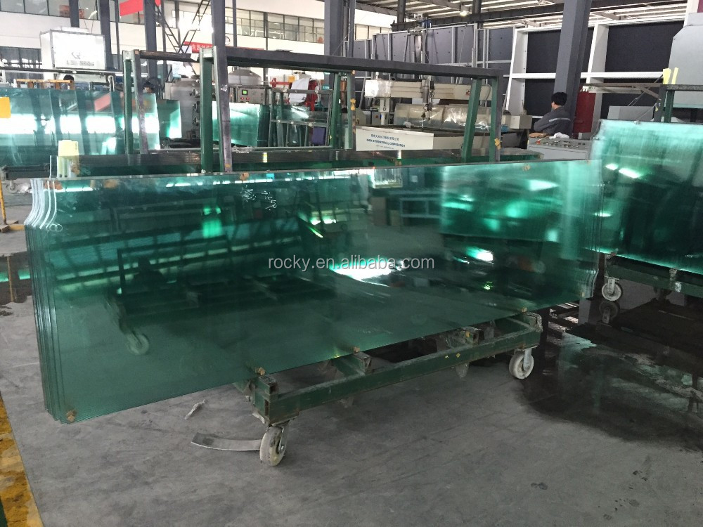 High quality toughened glass 12mm thick tempered safety glass