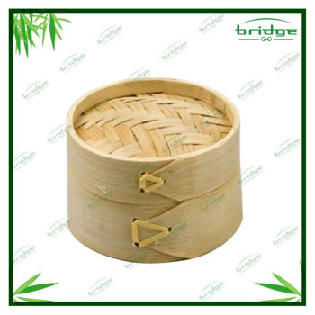 2-layer round Bamboo steamer