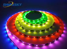 DMX led strip ,addressable rgb led strip with 5050 LED chip ws2801 ic