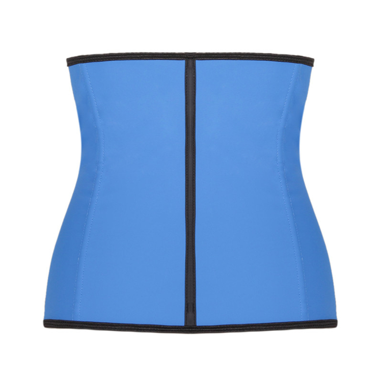Women slim 9 Steel Boned 3 hook latex rubber waist trainer