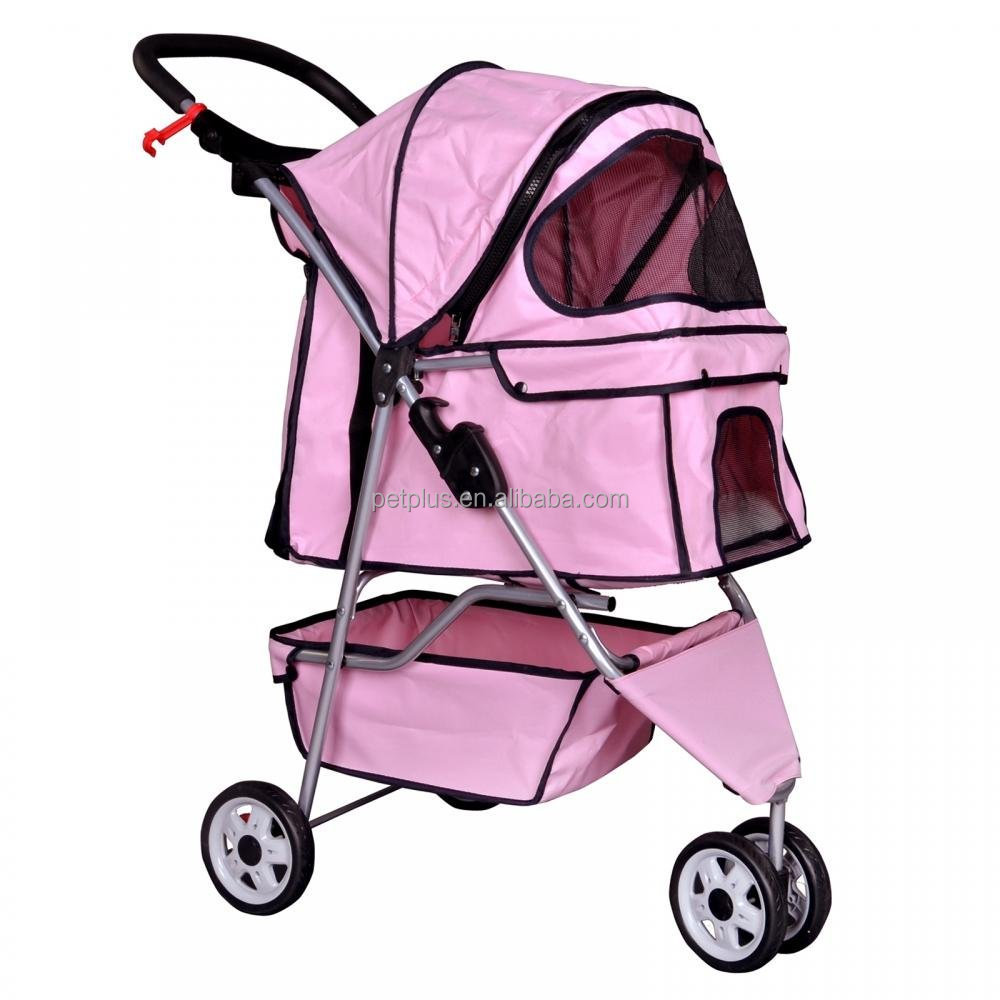 Pet Stroller Cat Dog Cage 3 Wheels Stroller Travel Folding dog carriers with wheels