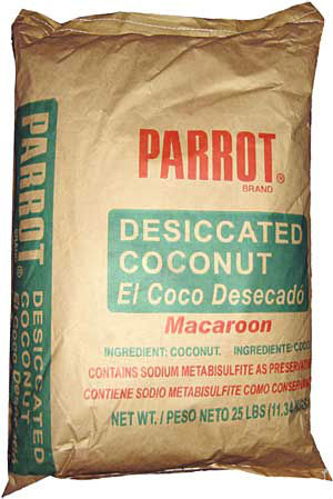 Parrot Brand Coconut Macaroon Desiccated 25 lbs