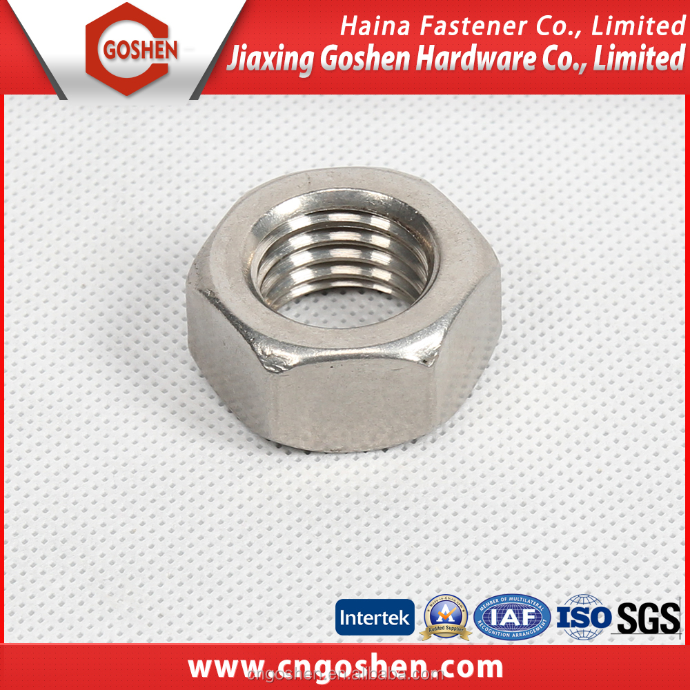 DIN934 stainless steel Ss304 and Ss316 hexagon nut with m1.6-m24