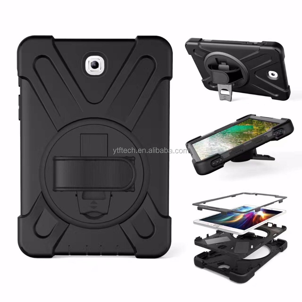 New Good Shape Free PC Silicone Material Kickstand Multifunction Band Strap Tablet Case for <strong>Ipad</strong> pro10.5