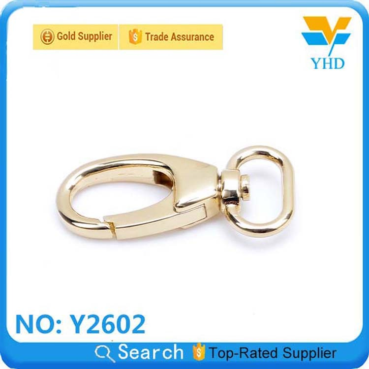 Factory wholesale Fashion zinc alloy bag belt lobster claw adjustable clasp
