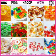 Cheap Halal Ring /Gummy Bear/Worm/Snake/Drop/Penis Shape Sour Gummy Candy