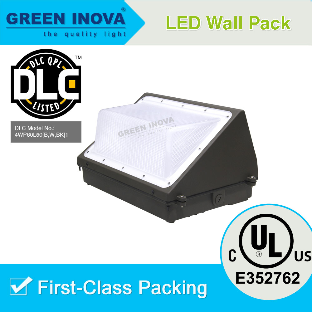 DLC Premium listed 60w LED wall pack LED tunnel light