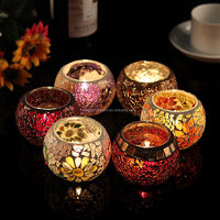 Mosaic Glass Tea Light Candle holder