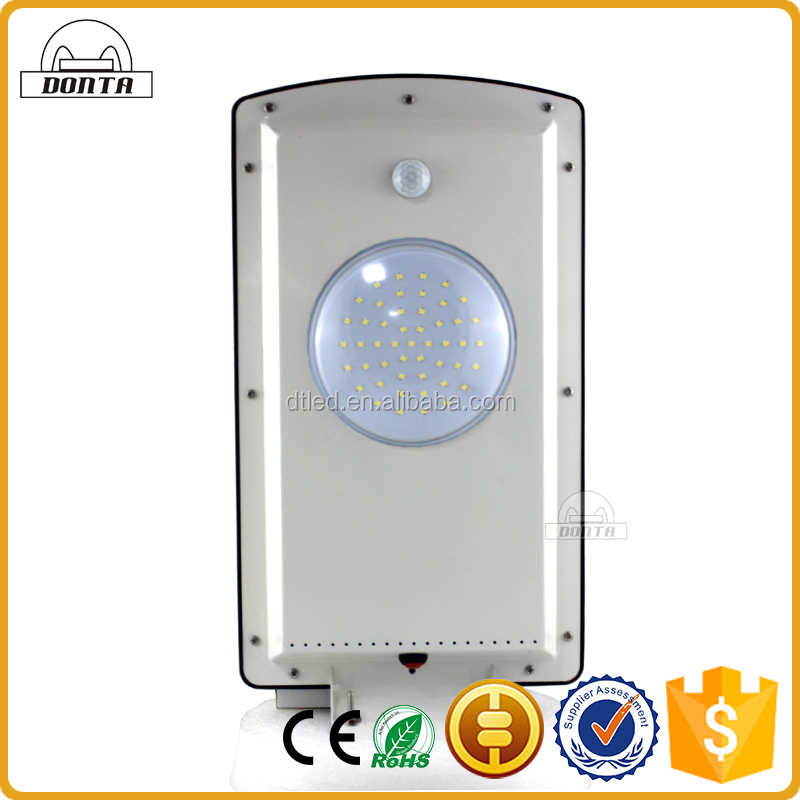 10w 12w 24w waterproof ip65 integrated all in one 18v led solar street light