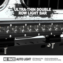 N2 2017 best seller SLIM 20'' 120W double row led lighting bar ip67 6d led light bar for cars,jeep,auto parts