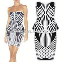 2015 sexy bandage cocktail dress pakistani indian clothing