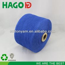 carded hot sell facty price knitting recycled dyed 10s cotton yarn