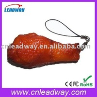New design delicious chicken leg usb key drive with keychain usb2.0