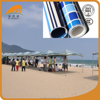 High quality PVC striped tarpaulin for large tent