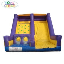 inflatable rock climbing slide inflatable slide with rocket climb jumping slide game