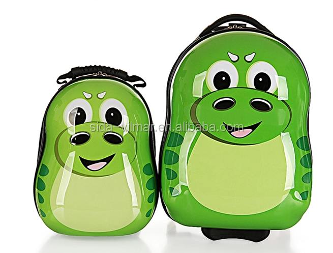 Wholesale abs printed kids smart hard shell luggage school kids trolley case