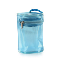 Clear PVC heat sealed zipper plastic packaging round bag