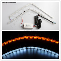 RGB Crystal led DRL Strip LED Halo Rings Car Motorcycle Light Waterproof Auto Headlight Car LED Lighting With DRL function