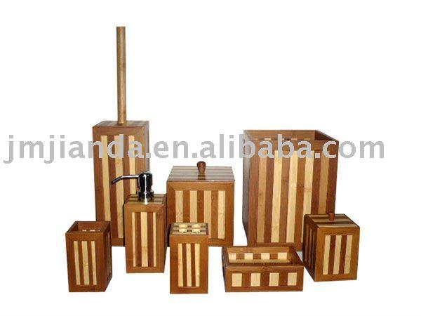 Accesorios de ba o de bamb sets de ba era identificaci n for Accesorios bano bambu