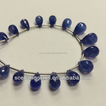 Natural Multi Shape Tear Drop Oval Roundel Faceted Loose Beads Tanzanite