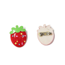 new arrival fake strawberry handicraft brooch pin for promotional gift items
