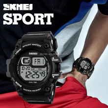 2017 men digital chrono wholesale price water resistant hand clock brand sport watch for men