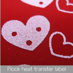 custom design Flexible plastisol heat transfer LABELS